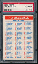 Load image into Gallery viewer, Scan of 1956 Topps  Checklist 1/3 PSA 6 EX-MT
