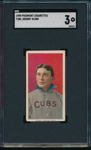 Scan of 1909 t206  Johnny Kling SGC 3 VG