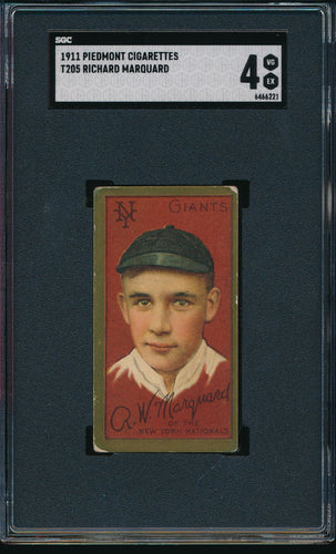 Scan of 1911 t205  Richard Rube Marquard SGC 4 VG-EX