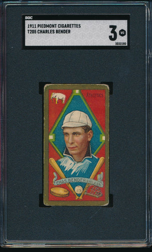 Scan of 1911 t205  Charles Chief Bender SGC 3 VG