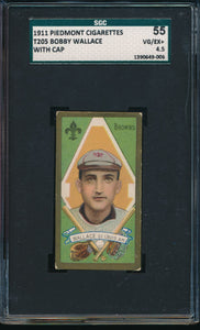 Scan of 1911 t205  Bobby Wallace (With Cap) SGC 4.5 VG-EX+