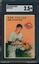 Load image into Gallery viewer, Scan of 1954 Wilson Franks  Bob Feller SGC 2.5 GOOD+