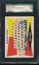 Load image into Gallery viewer, Scan of 1960 Topps 537 Boston Red Sox Team Card SGC 7 NM