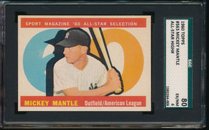 Scan of 1960 Topps 563 MICKEY MANTLE SGC 6