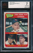Load image into Gallery viewer, Scan of 1965 Topps 3 AL Home Run Leaders BGS 7 NM