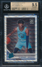 Load image into Gallery viewer, Scan of 2019-20 Donruss Optic 168 JA MORANT SGC 9.5 GEM MINT