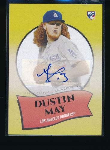 Scan of 2020 Topps  Dustin May Pack-Fresh
