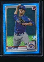 Load image into Gallery viewer, 2020 Bowman 1st Edition  Briam Campusano Blue Foil /150 Pack-Fresh 14675