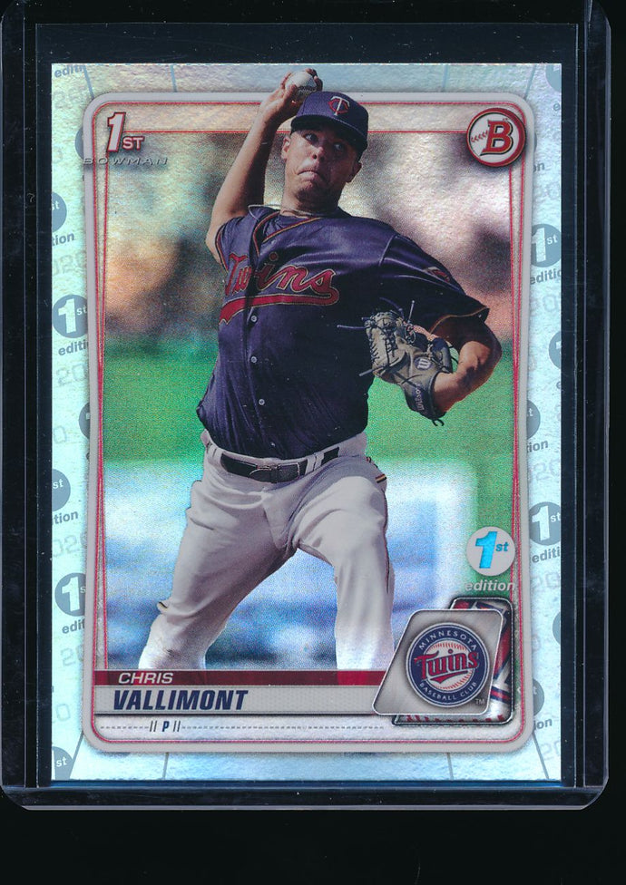 2020 Bowman 1st Edition  Chris Vallimont Sky Blue Pack-Fresh 14678