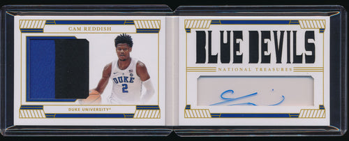 Scan of 2019-20 National Treasures Collegiate  CAM REDDISH