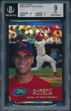 Load image into Gallery viewer, Scan of 2001 Bowman 143 ALBERT PUJOLS BGS 9 MINT