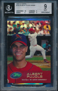 Scan of 2001 Bowman 143 ALBERT PUJOLS BGS 9 MINT