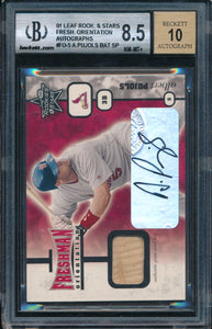 Scan of 2001 Leaf Rookies Stars  ALBERT PUJOLS BGS 8.5/10
