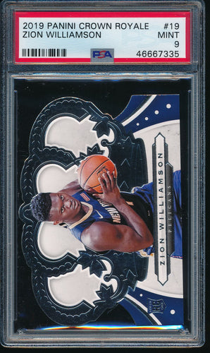 Scan of 2019-20 Panini 19 ZION WILLIAMSON PSA 9 MINT