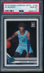Scan of 2019-20 Panini 168 JA MORANT PSA 10 GEM MINT