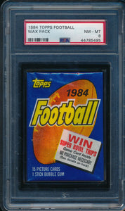 Scan of 1984 Topps  Wax Pack PSA 8 NM-MT