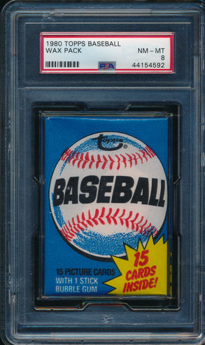 Scan of 1980 Topps  Wax Pack PSA 8 NM-MT