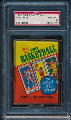 Scan of 1980-1 Topps  Wax Pack PSA 8 NM-MT
