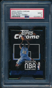 Scan of 2003-04 Topps Chrome  Foil Pack - Hobby PSA 9 MINT