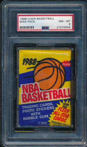 Scan of 1988-89 Fleer  Wax Pack PSA 8 NM-MT