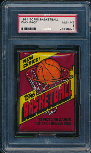 Scan of 1981-82 Topps  Wax Pack PSA 8 NM-MT