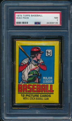 Scan of 1979 Topps  Wax Pack PSA 7 NM