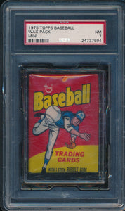 Scan of 1975 Topps Mini  Wax Pack PSA 7 NM