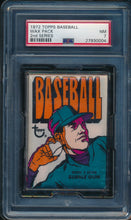 Load image into Gallery viewer, Scan of 1972 Topps  Wax Pack PSA 7 NM