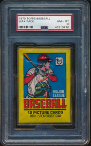 Scan of 1979 Topps  Wax Pack PSA 8 NM-MT