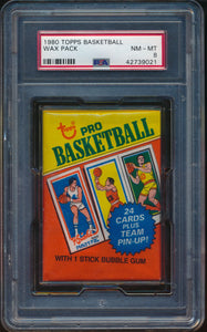 Scan of 1980-81 Topps  Wax Pack PSA 8 NM-MT