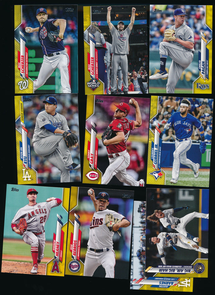 Scan of 2020 Topps  Lot x10 NR-MT+