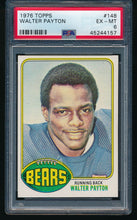 Load image into Gallery viewer, Scan of 1976 Topps 148 WALTER PAYTON PSA 6 EX-MT