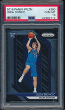 Load image into Gallery viewer, Scan of 2018-19 Prizm 280 LUKA DONCIC PSA 10 GEM MINT