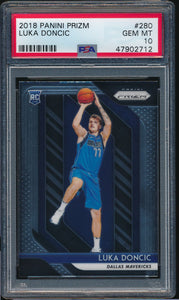 Scan of 2018-19 Prizm 280 LUKA DONCIC PSA 10 GEM MINT