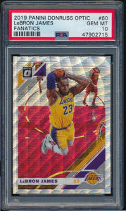 Scan of 2019-20 Donruss Optic 60 LEBRON JAMES PSA 10 GEM MINT