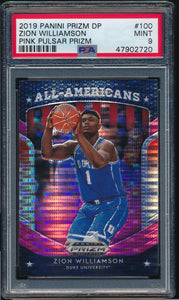 Scan of 2019-20 Prizm Draft 100 ZION WILLIAMSON PSA 9 MINT