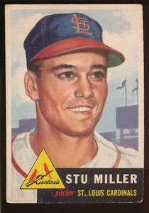 Scan of 1953 Topps 183 Stu Miller G/VG