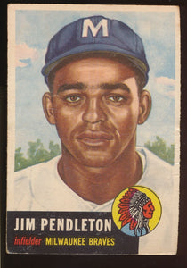 Scan of 1953 Topps 185 Jim Pendleton G