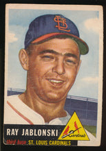 Load image into Gallery viewer, Scan of 1953 Topps 189 Ray Jablonski VG