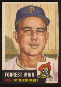 Scan of 1953 Topps 198 Forest Woody Main F