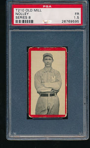 Scan of 1910 t210-8 Old Mill  Nolley PSA 1.5 Fair