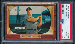 Scan of 1955 Bowman 202 MICKEY MANTLE PSA 4 VG-EX