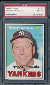 1967 Topps 150 MICKEY MANTLE PSA 7 NM DS_117