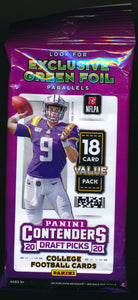 Scan of 2020 Panini Football Fat Pack Value