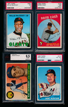 Load image into Gallery viewer, Post-WWII Graded Mega Mixer (100 spots) featuring a 1963 Topps Rose and '56/'63 Mantles