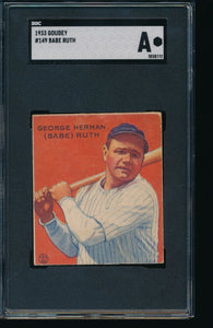 1933 Goudey Mega Mixer Break featuring TWO Babe Ruth cards (Limit 10)