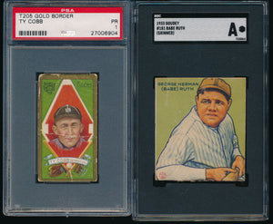 Pre-WWII Mixer Break featuring Babe Ruth and Ty Cobb