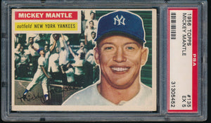 Post-WWII Graded Mega Mixer (40 spots) featuring a 1956 Topps Mantle PSA 5 (Limit 5 per person)
