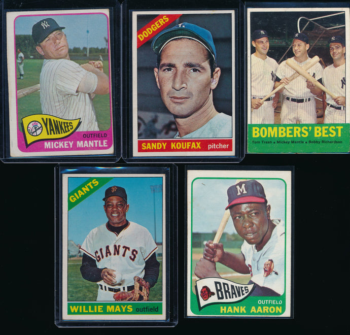 Mini-Mixer Break (20 Spots) Featuring Mantle, Aaron, Mays, Koufax, MORE (LIMIT 2)