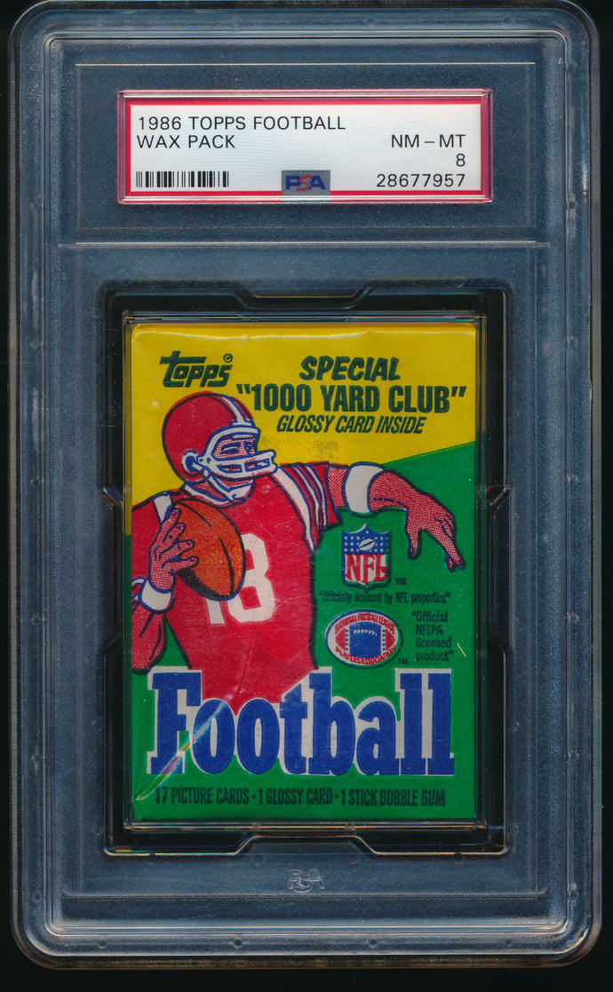 1986 Topps Football Wax Pack Group Break (17 Spots) #3